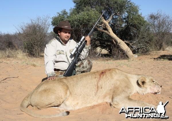 Hunting lion with Savanna Hunting Safaris