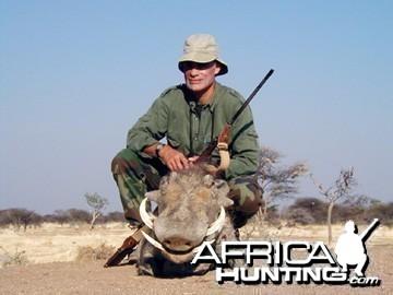 Hunting Warthog Namibia