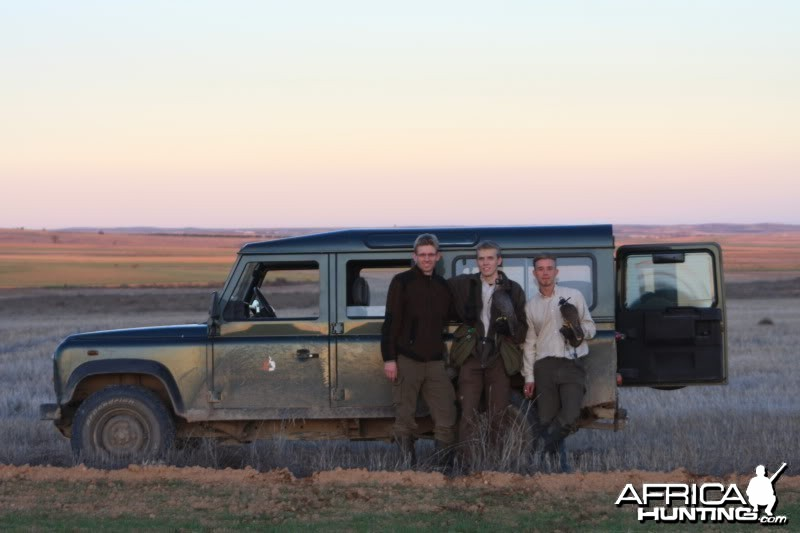 Me and two good friends hunting in Spain with Falcons