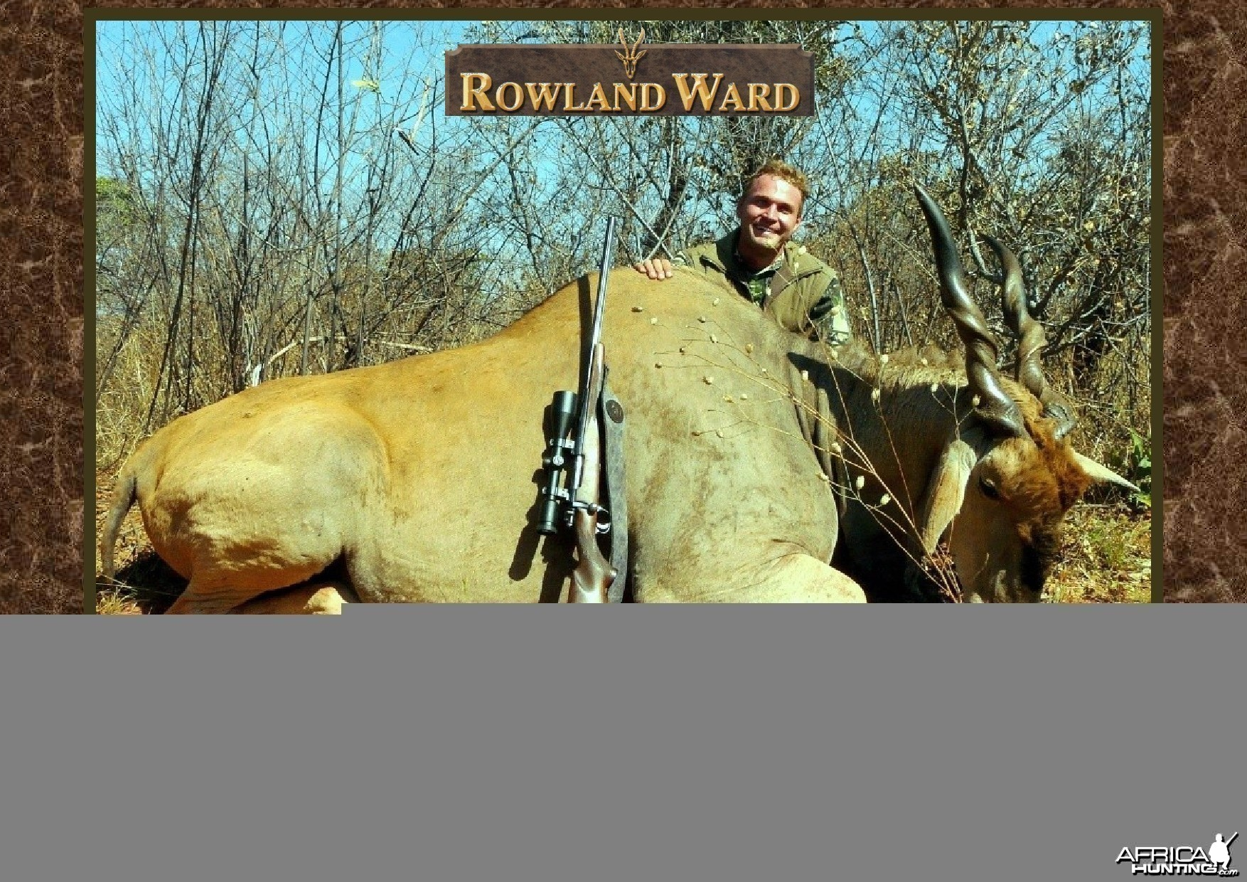 New Record Cape Eland  46 6/8� hunted by Charl Kemp