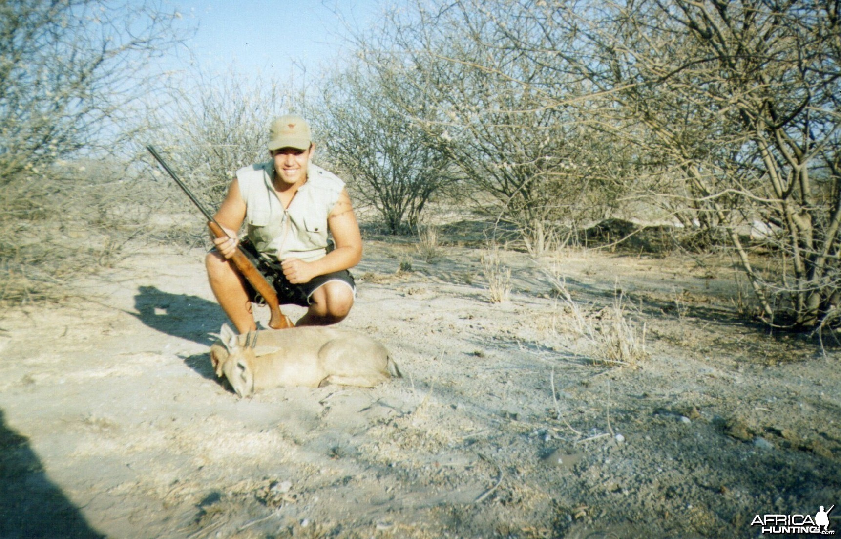 My son, with a good trophy Steenbok
