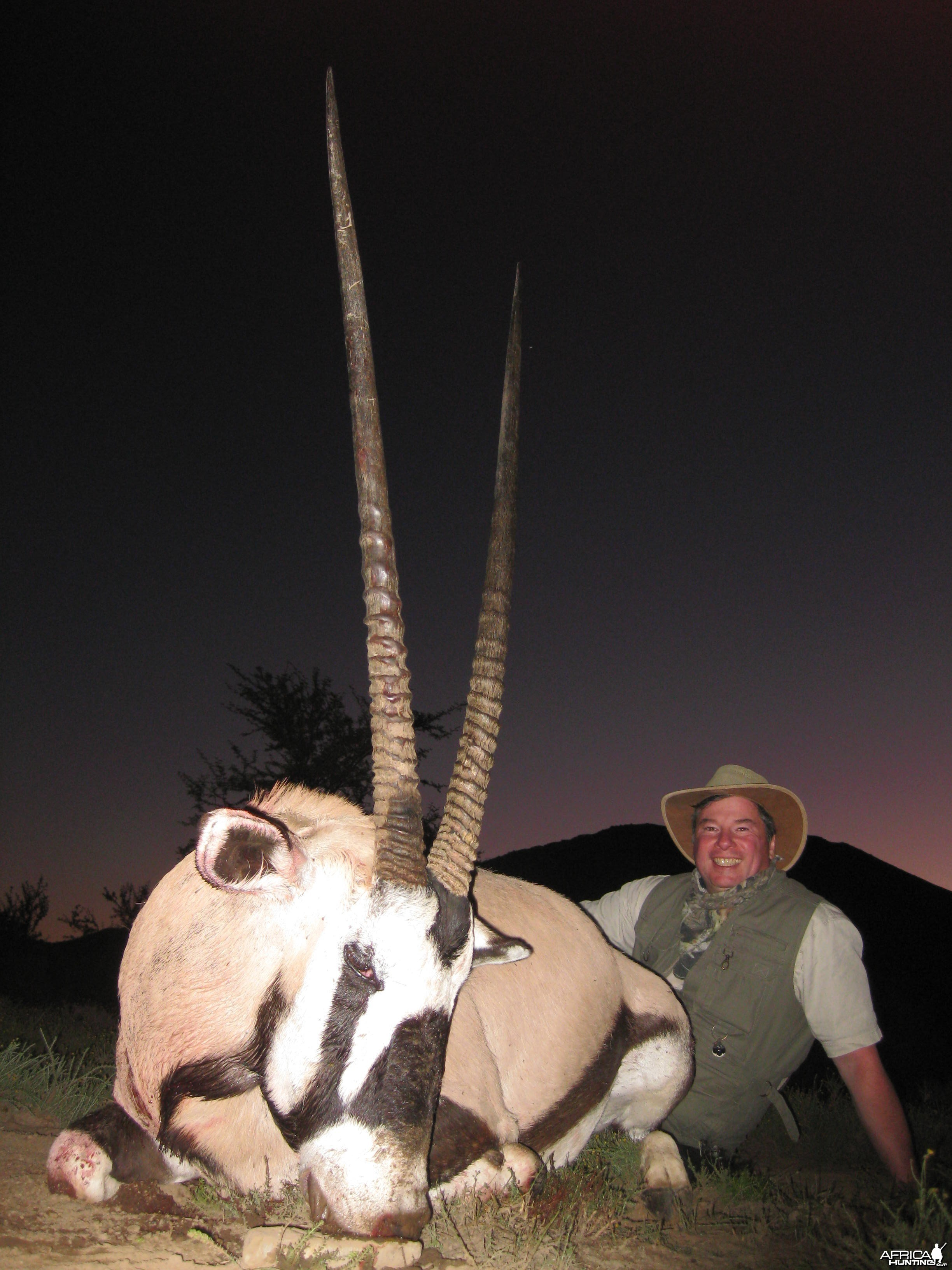 Michael J. Storinsky and his Gemsbok