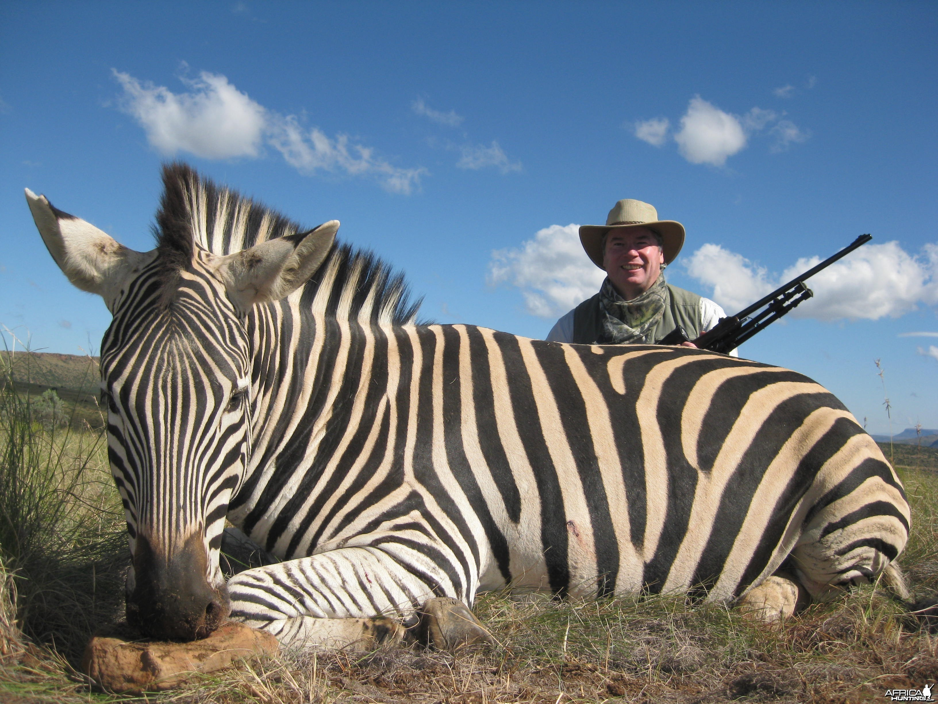 Michael J. Storinsky and his Burchell Zebra