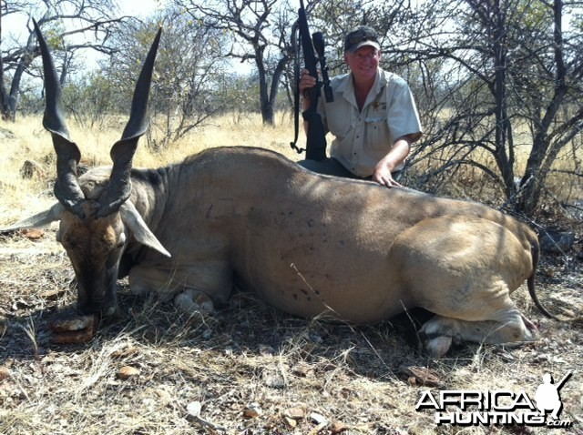 "Holstein Hunting Safaris Namibia - client wit 42 1/2"" Eland"