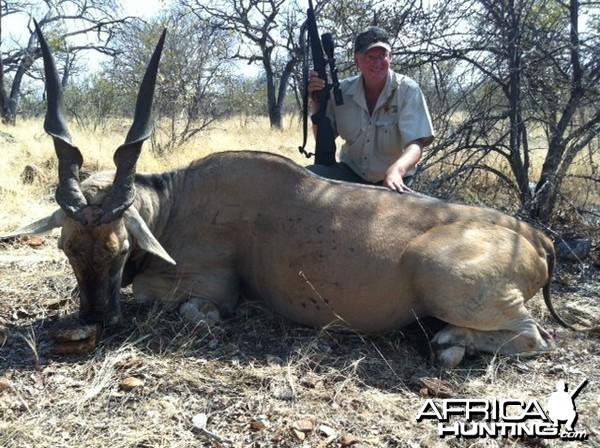 "Holstein Hunting Safaris Namibia - client wit 42 1/2"" Eland"