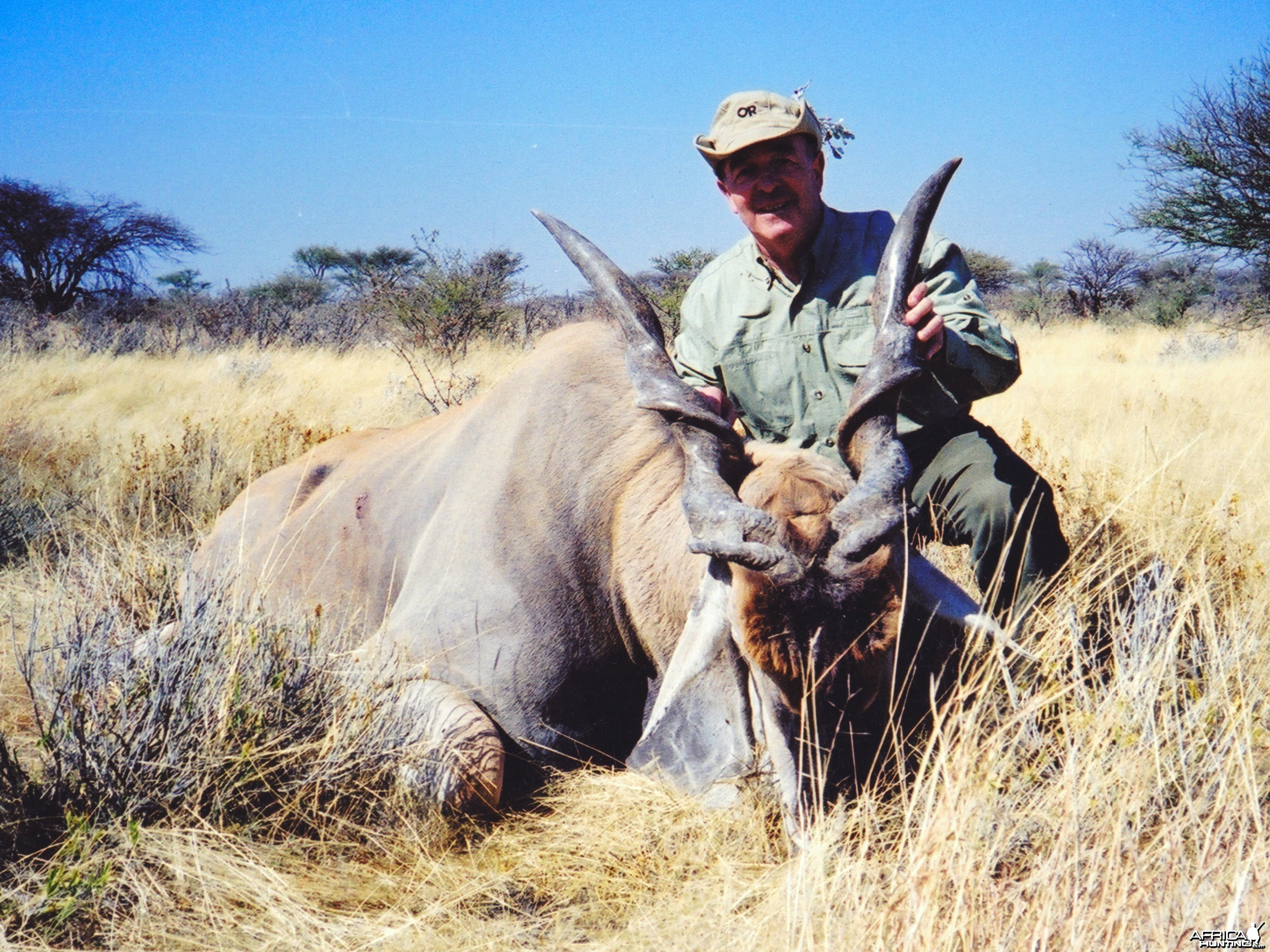 "Holstein Hunting Safaris Namibia - Client with a 46"" Eland"