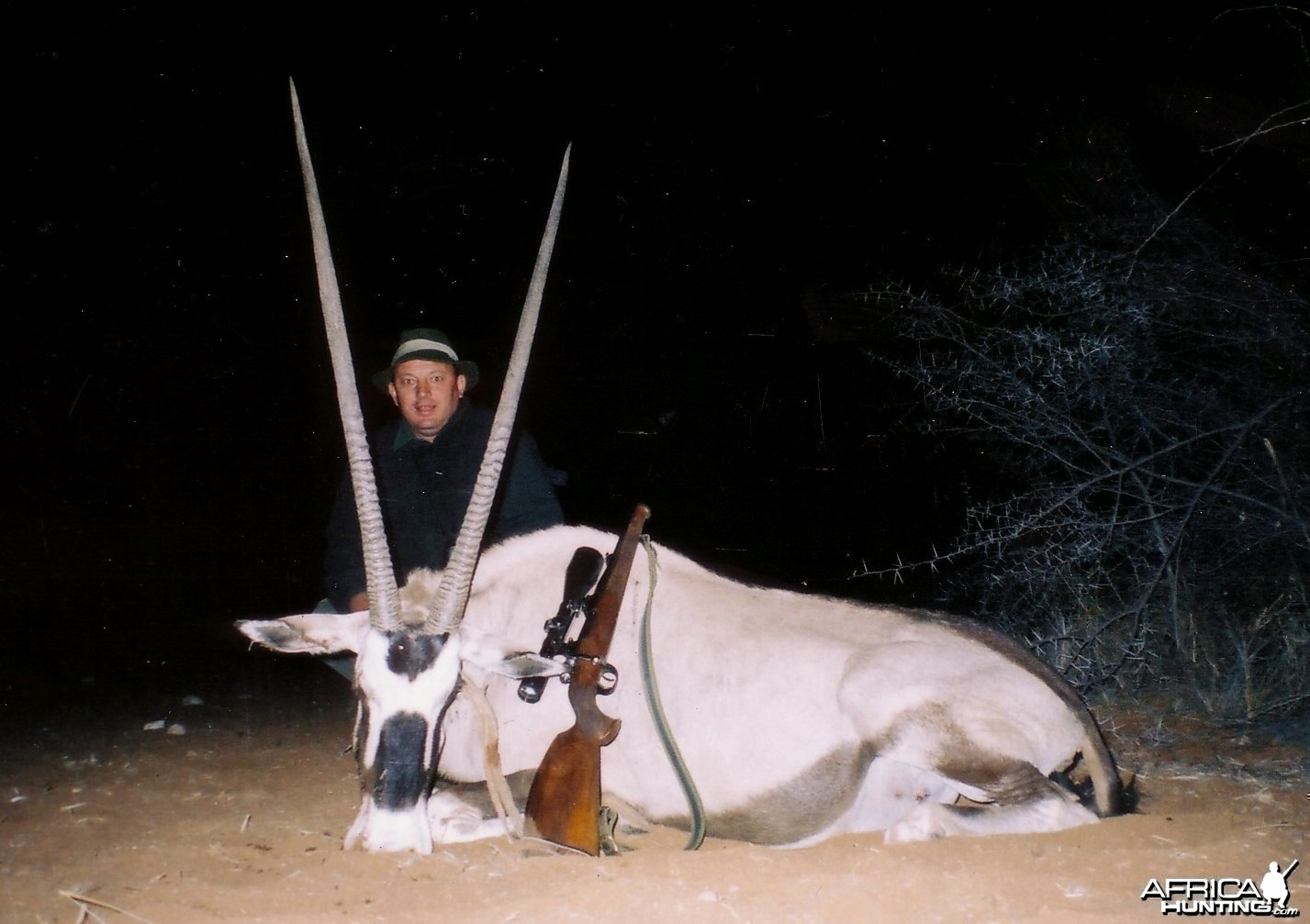 Holstein Hunting Safaris Namibia - Client with big Gemsbuck