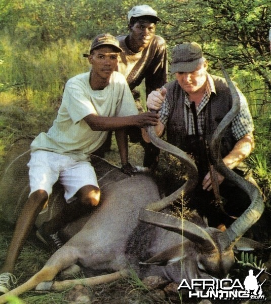 """72 1/2"""" Kudu, and current no.2 in Rowland Ward hunted in Namibia in 20"""