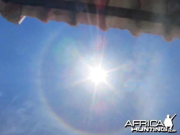 Sun Halo in Namibia