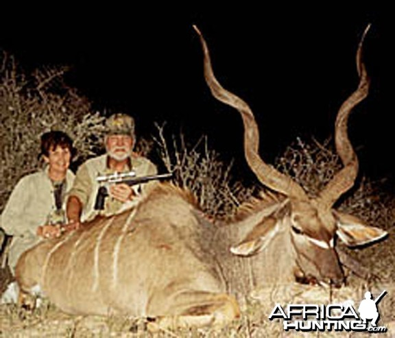 Kudu hunted with a handgun