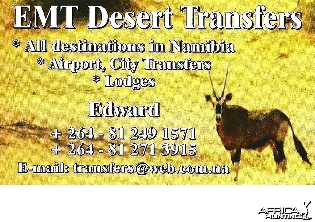 Transfers by car in Namibia