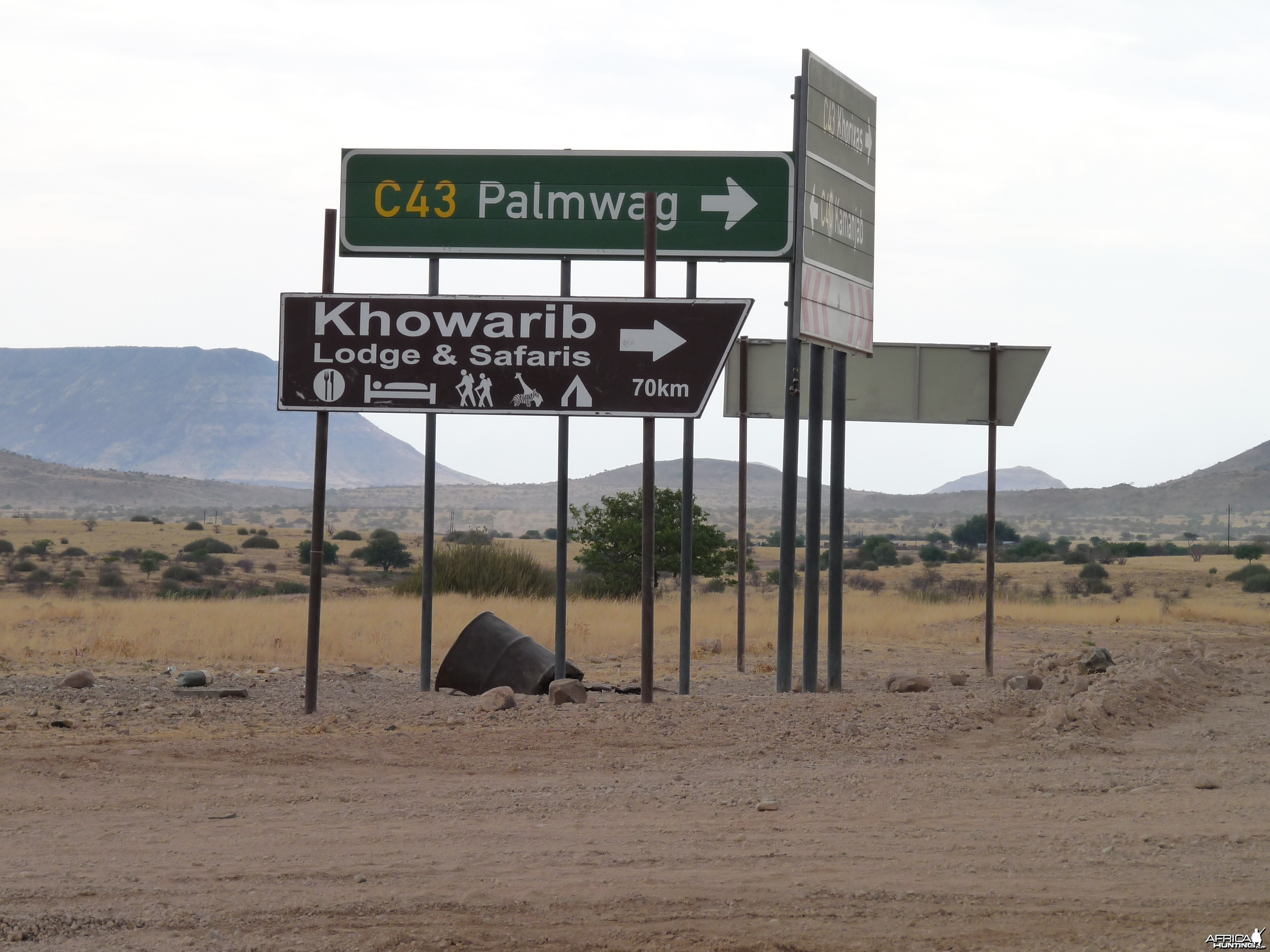 Road Signs Damaraland Namibia