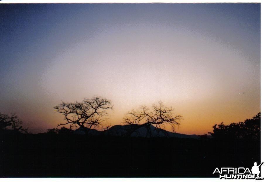 nice african sun set