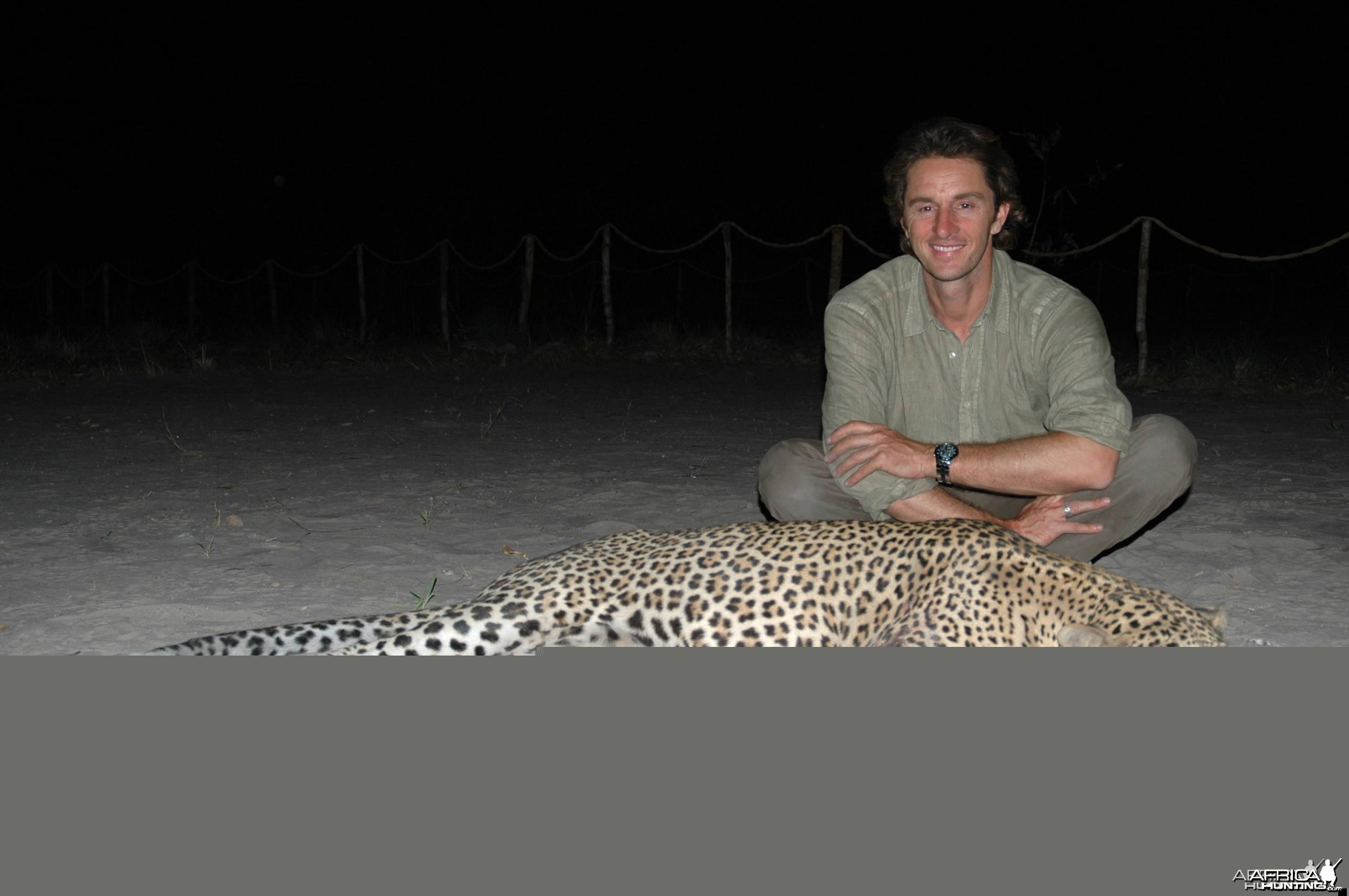 Big Leopard Selous Hunting Tanzania