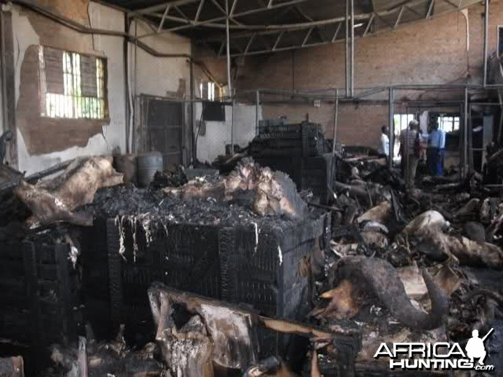 Fire at Trophy Warehouse in Zimbabwe Bulawayo