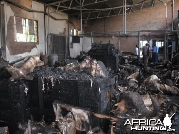 Fire at Trophy Warehouse in Zimbabwe Bulawayo