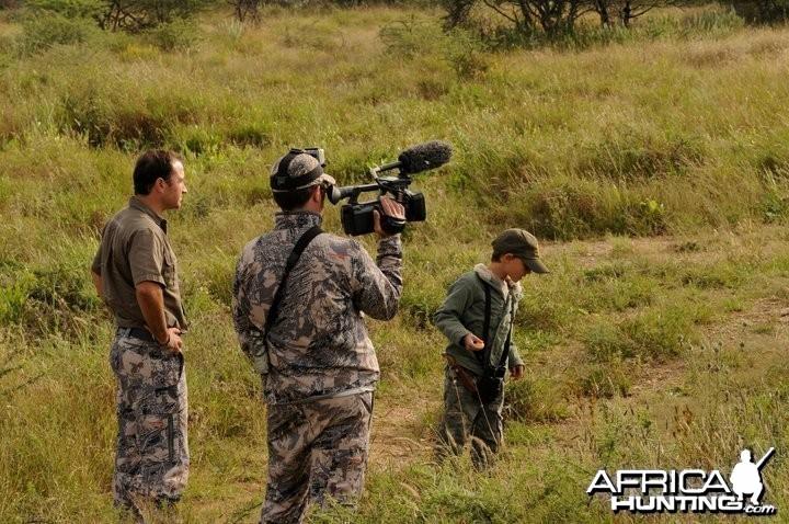 Filming Elephants near Etosha