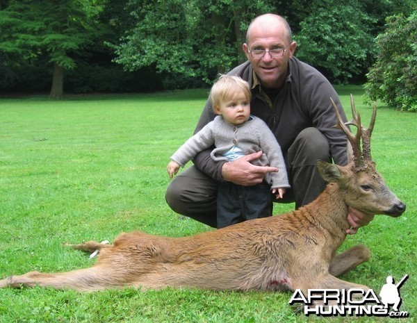 Big roe deer on my first father's day