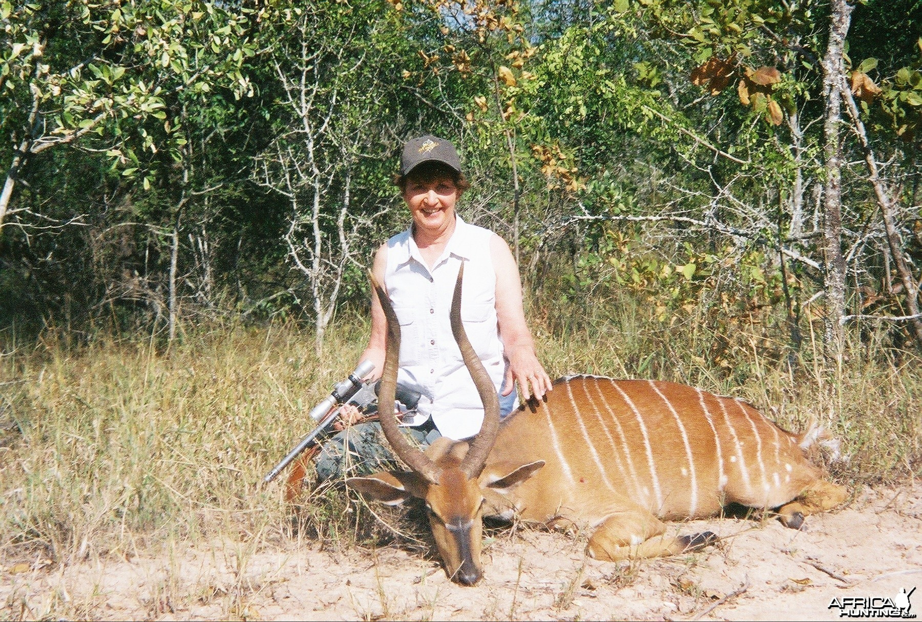 best pic of deena and her nontypical trophy rare nyala