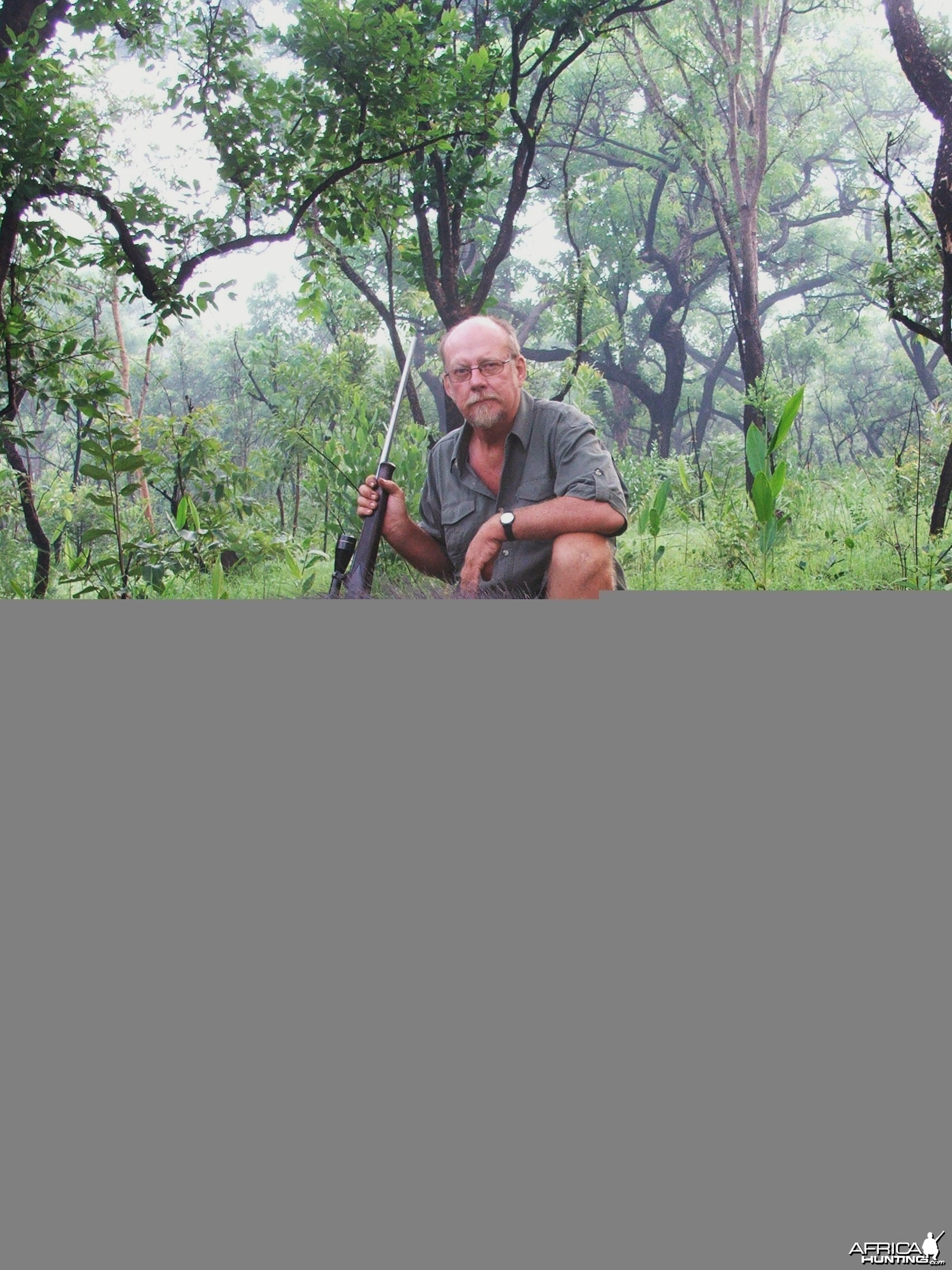 Very Old Giant Forest Hog, taken in an early morning stalk