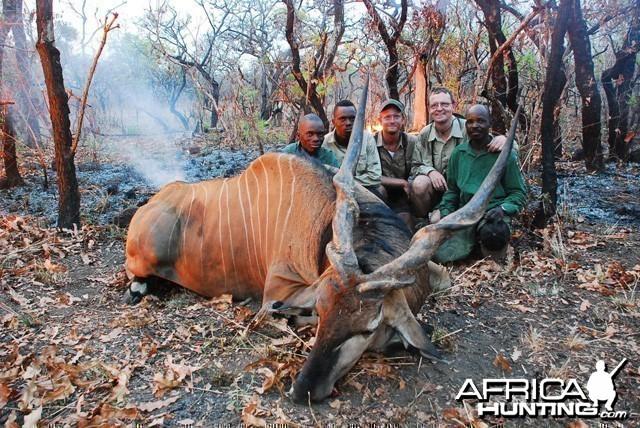 49 Inch Lord Derby Eland  shot at CAWA Safari CAR