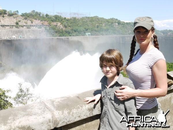 kariba dam april 2010 with the gates open