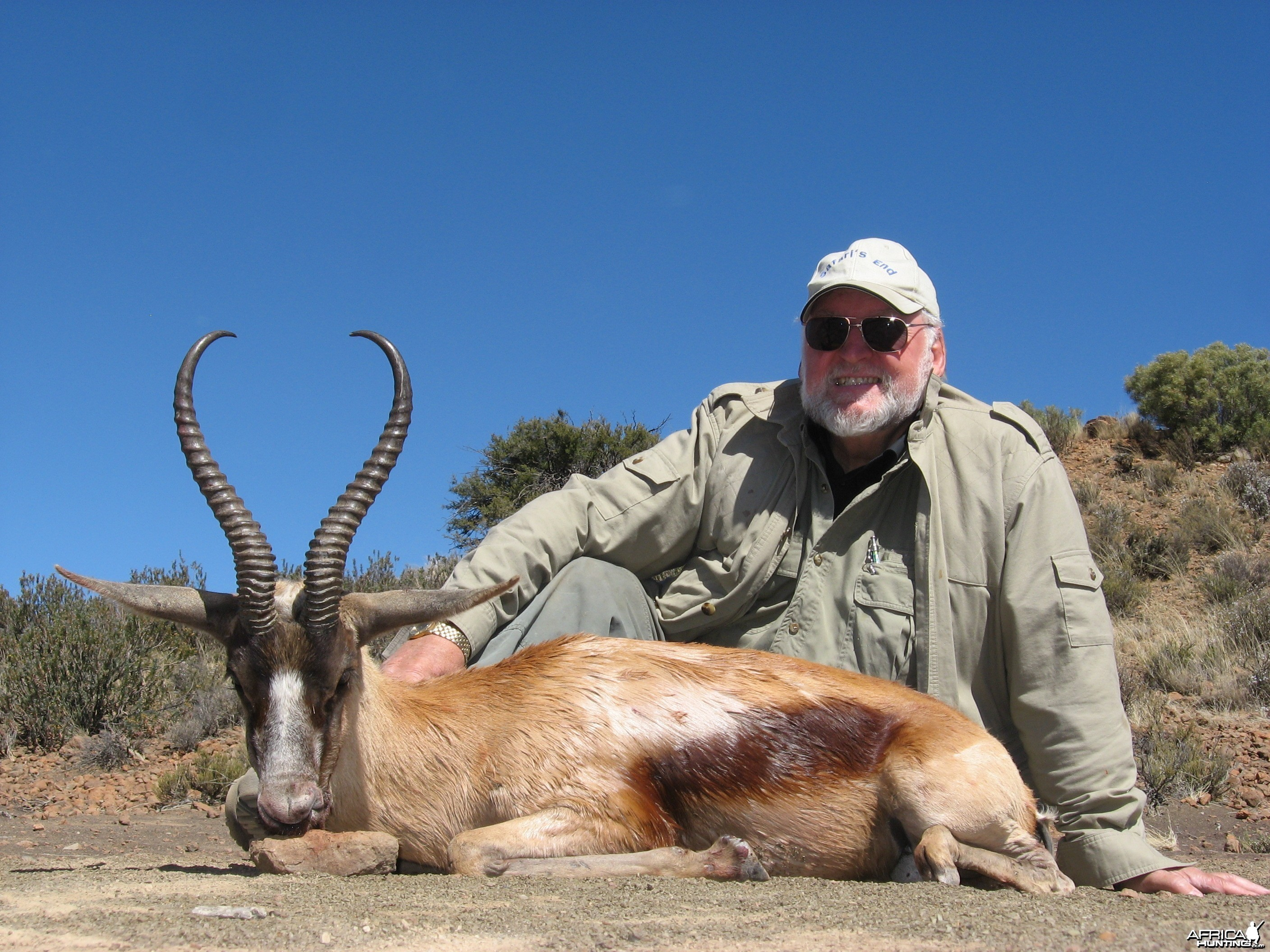 Copper Springbuck hunted with Andrew Harvey Safaris