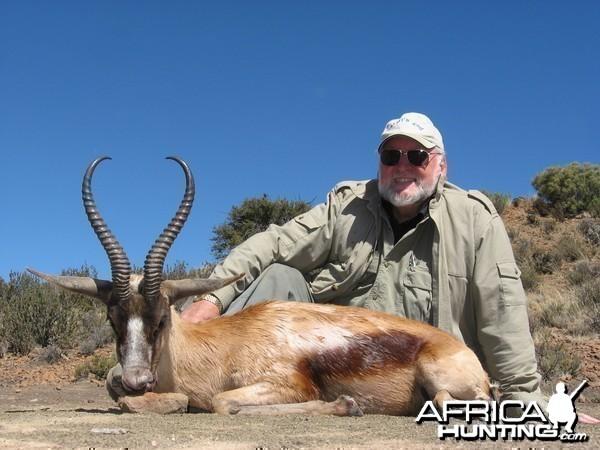 Copper Springbuck hunted with Andrew Harvey Safaris