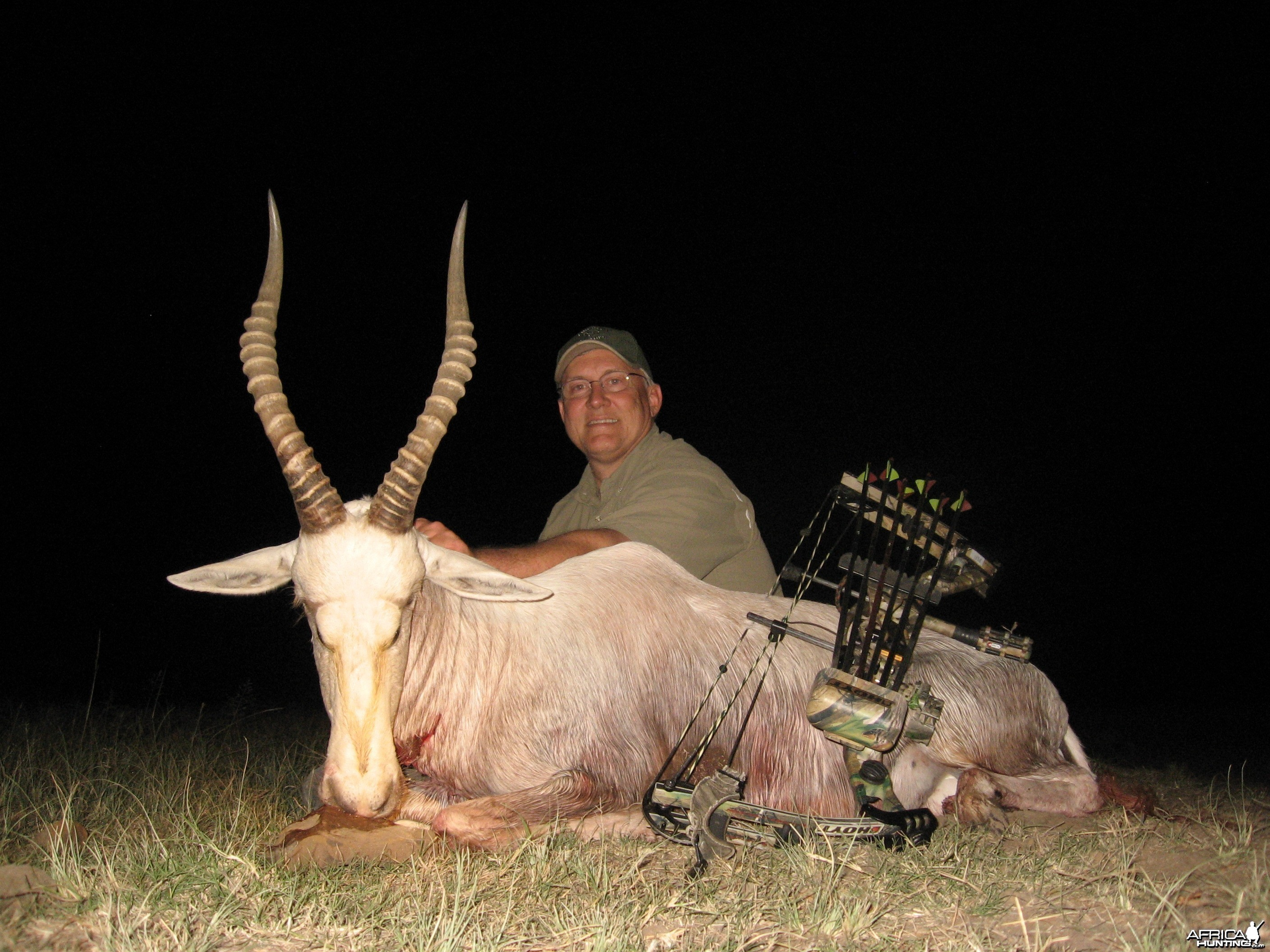 White Blesbuck hunted with Andrew Harvey Safaris
