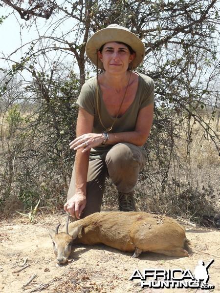 Oribi hunted in Benin with Club Faune