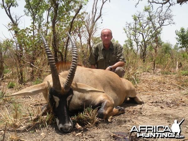 Western Roan Antelope hunted in Benin with Club Faune
