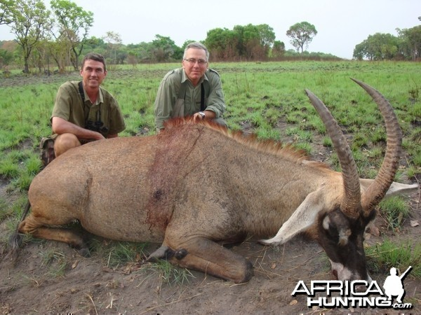 Roan Antelope hunted in Central Africa with Club Faune