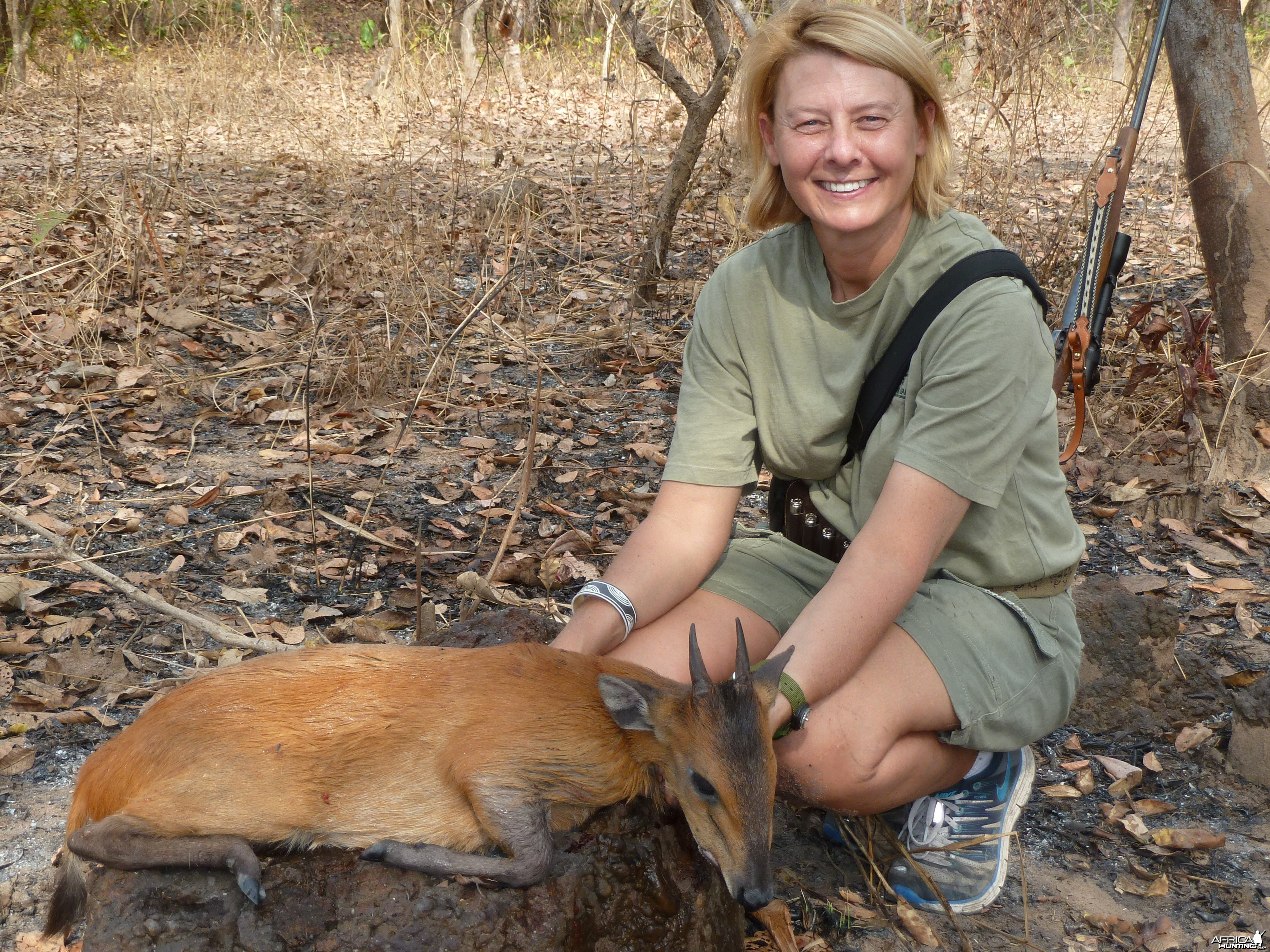 Red-Flanked Duiker hunted in Central Africa with Club Faune