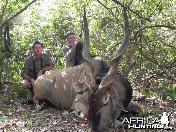 Lord Derby Eland hunted in Central Africa with Club Faune