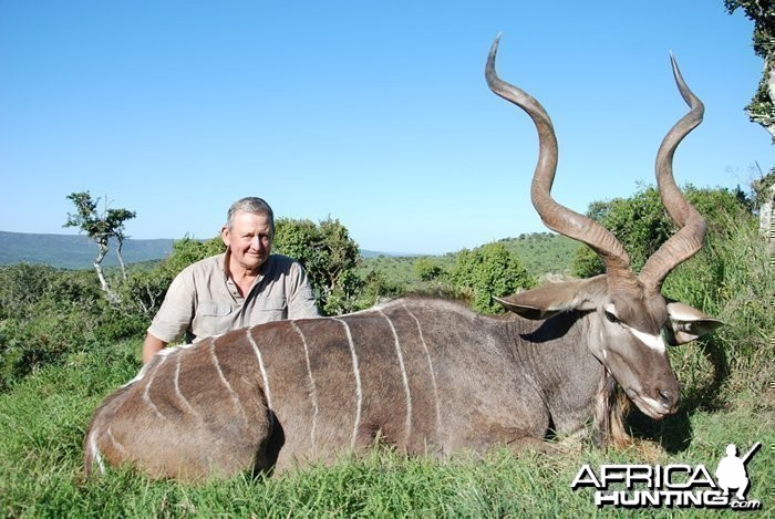 Richard Ahern's 50.5 inches Kudu Bull shot at Induna Safaris, the 2012 reco