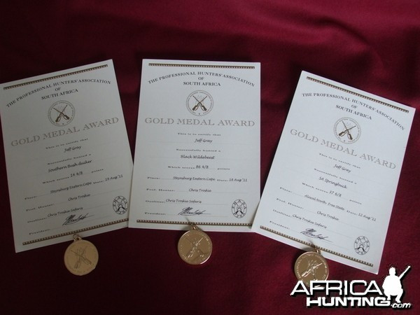 PHASA 3 Gold Medals