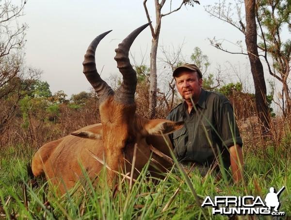 Lelwed Hartebeest hunted in CAR
