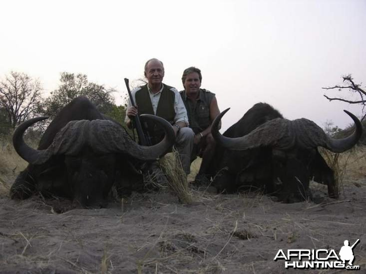 King Juan Carlos of Spain Buffalo hunted with Rann Safaris in Botswan
