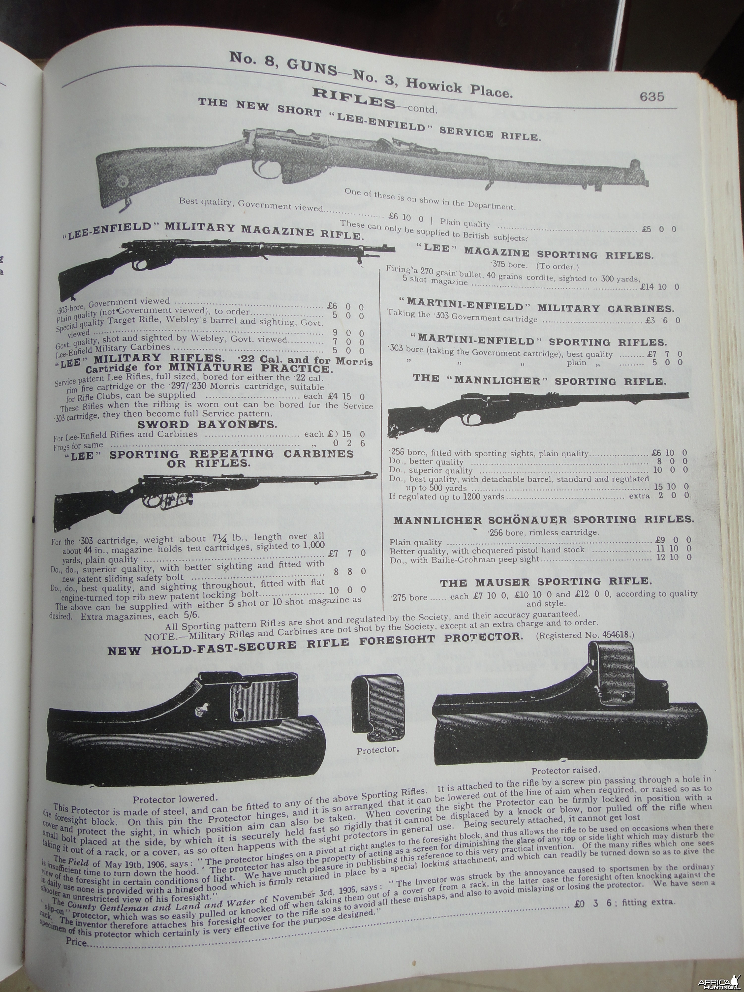 Express Rifles suitable for Big Game Shooting