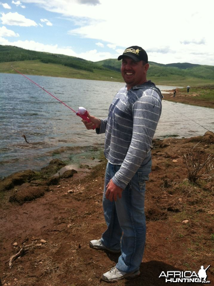 Me fishing in Utah in one of AH caps last week