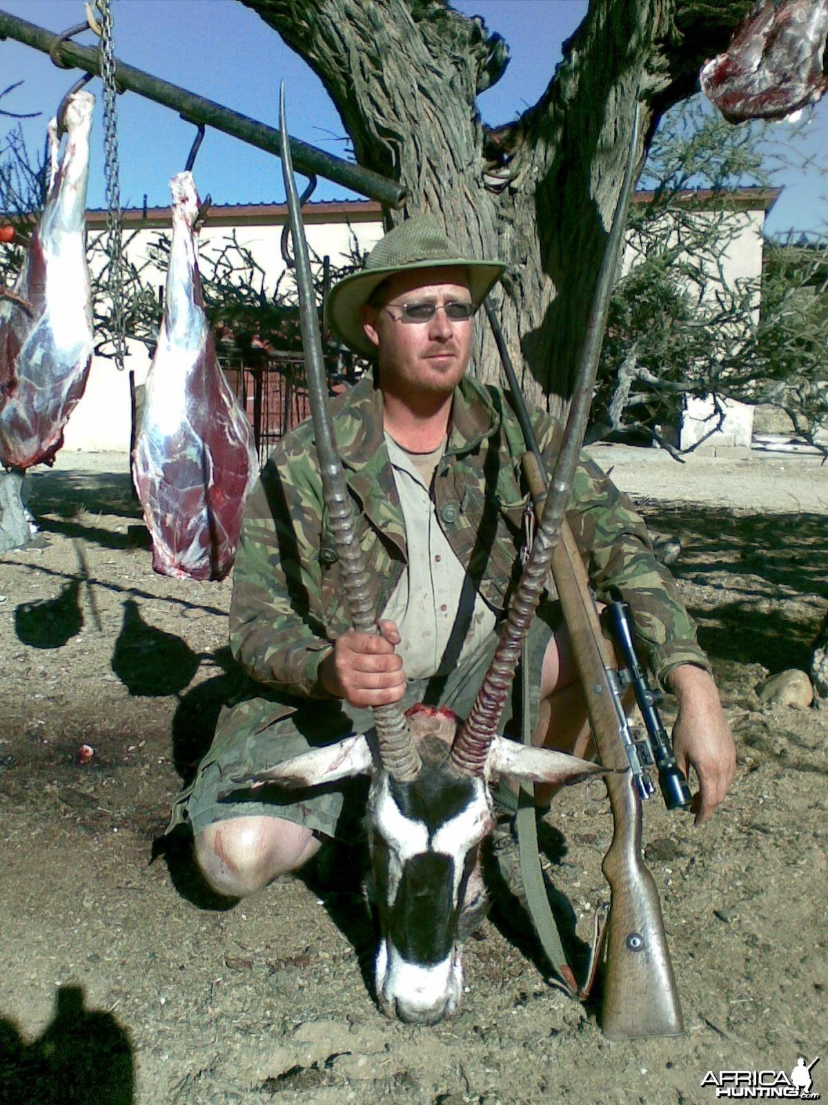 Oryx 111 cm, Namibia, Farm Donkerhuk