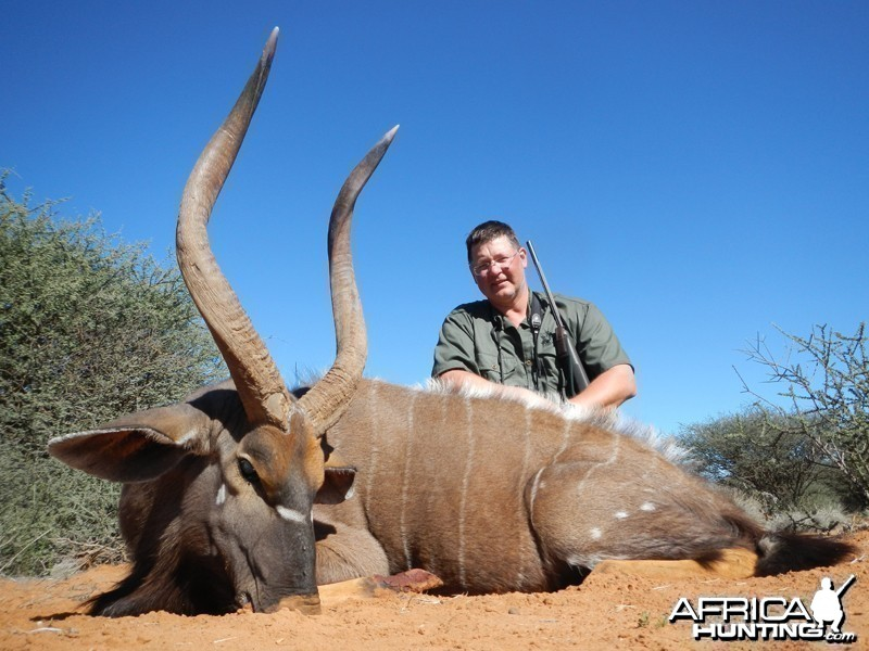 Nyala hunted with Wintershoek Johnny Vivier Safaris