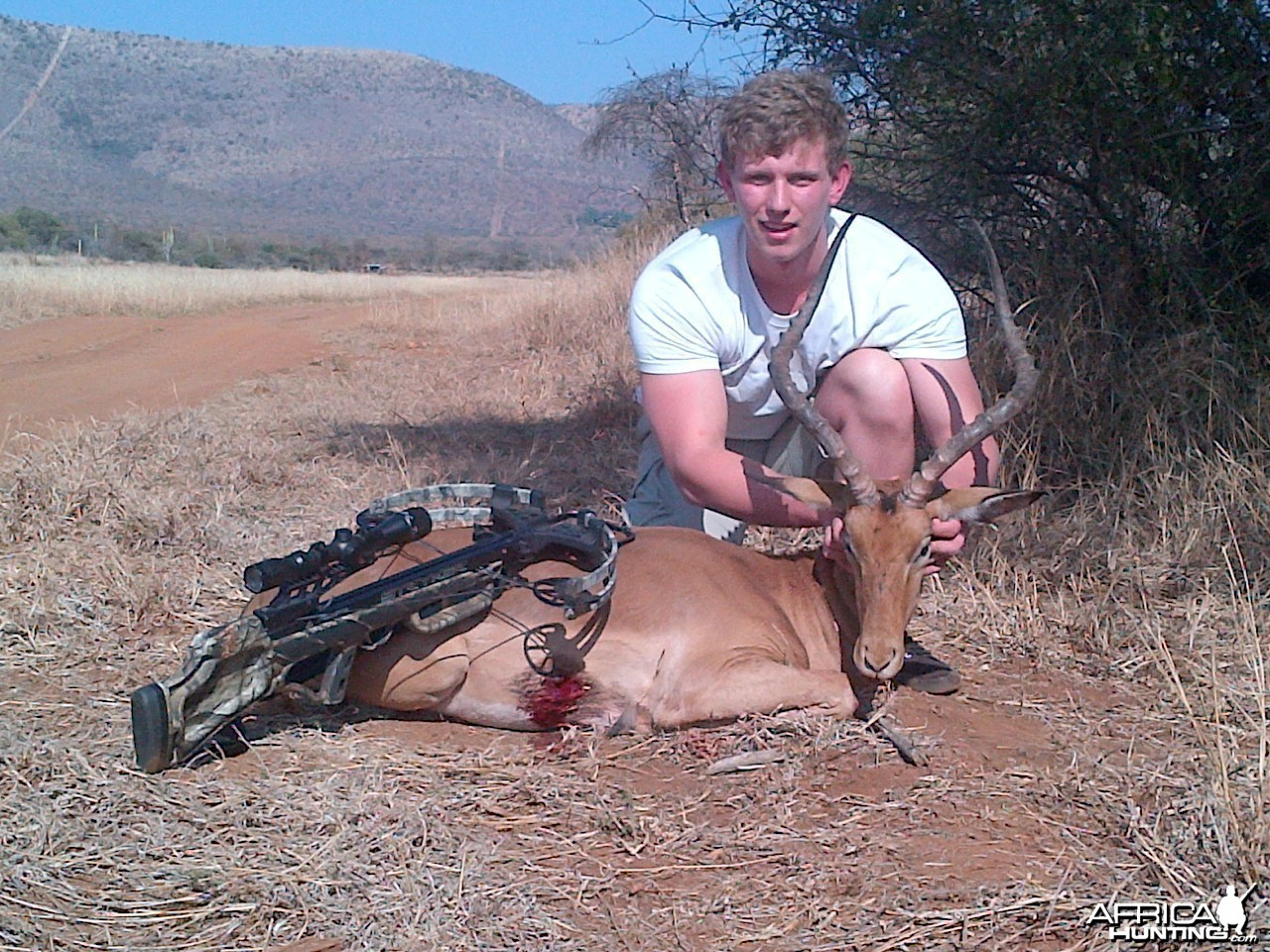 25 inch rowland ward impala taken with crossbow