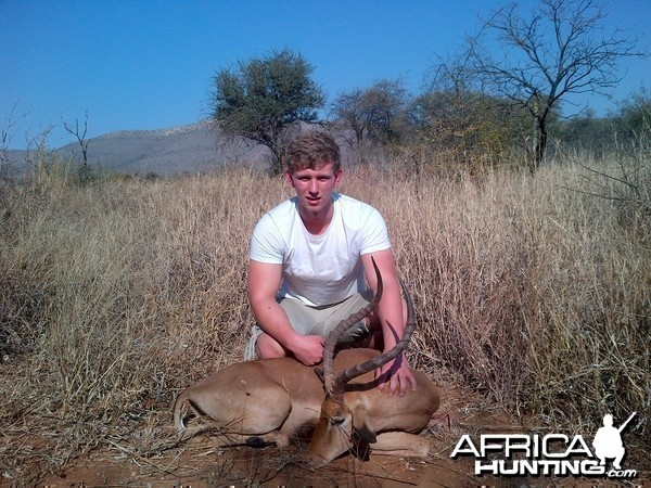 25 inch rowland ward impala taken with crossbow