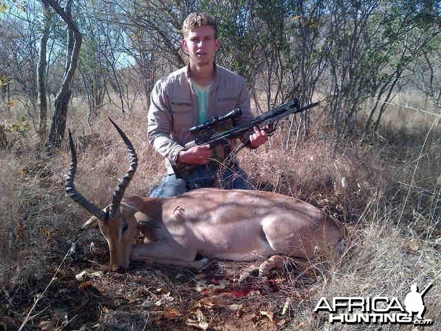impala taken with crossbow hunt