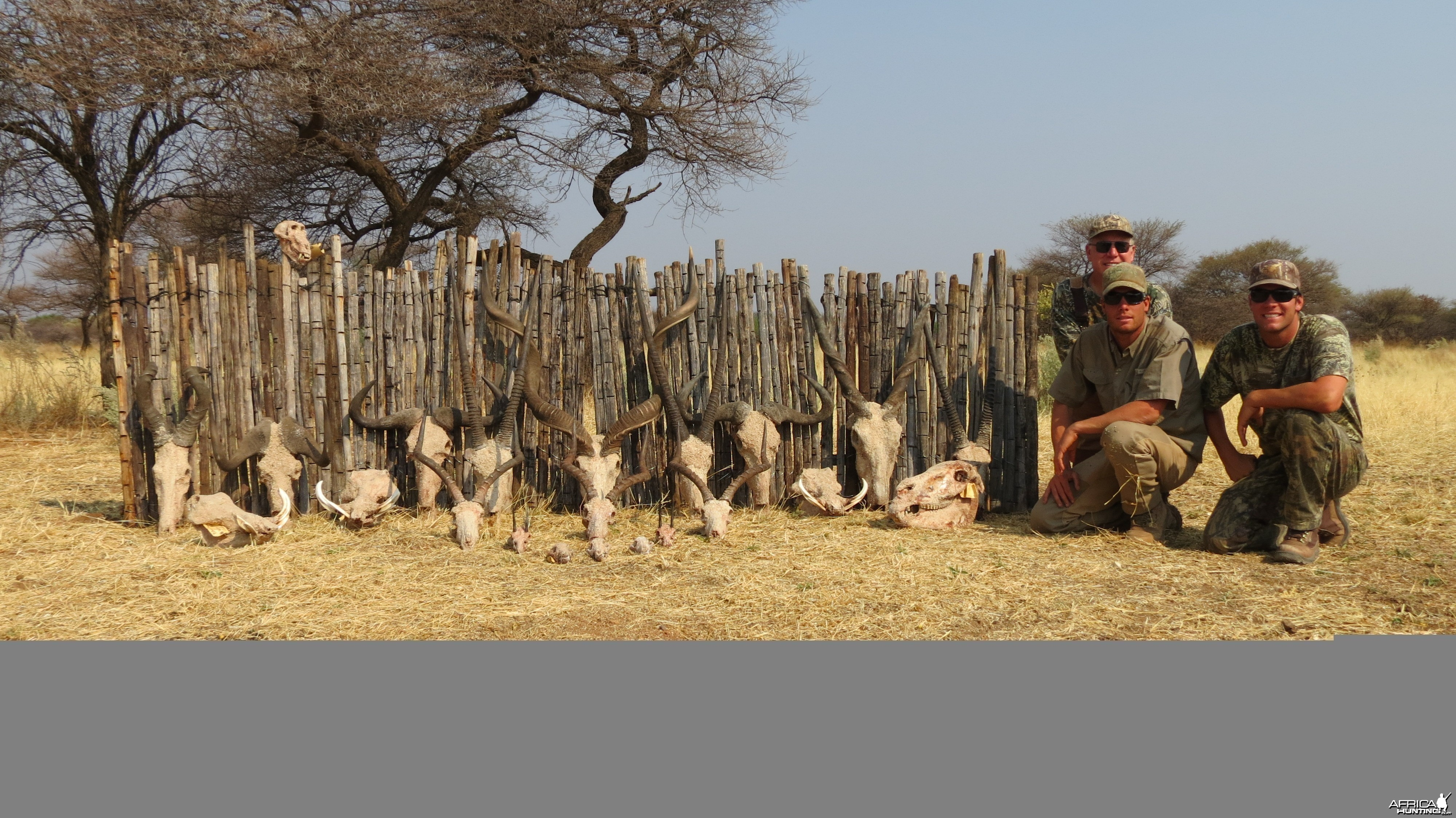 Trophies hunted with Ozondjahe Hunting Safaris in Namibia