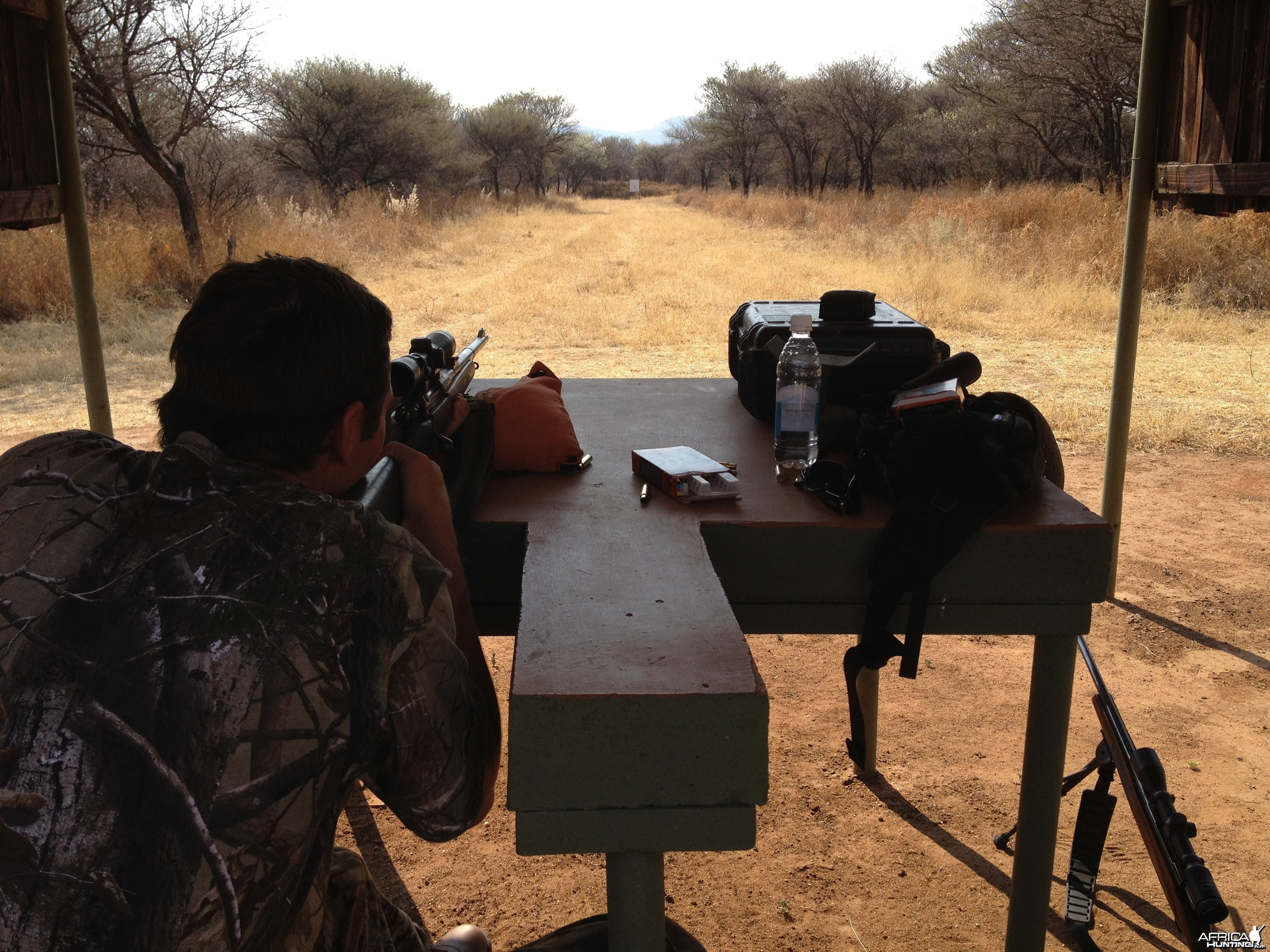 Shooting range at Ozondjahe Hunting Safaris in Namibia