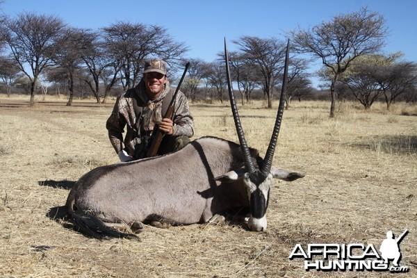 Gemsbok hunted with Ozondjahe Hunting Safaris in Namibia