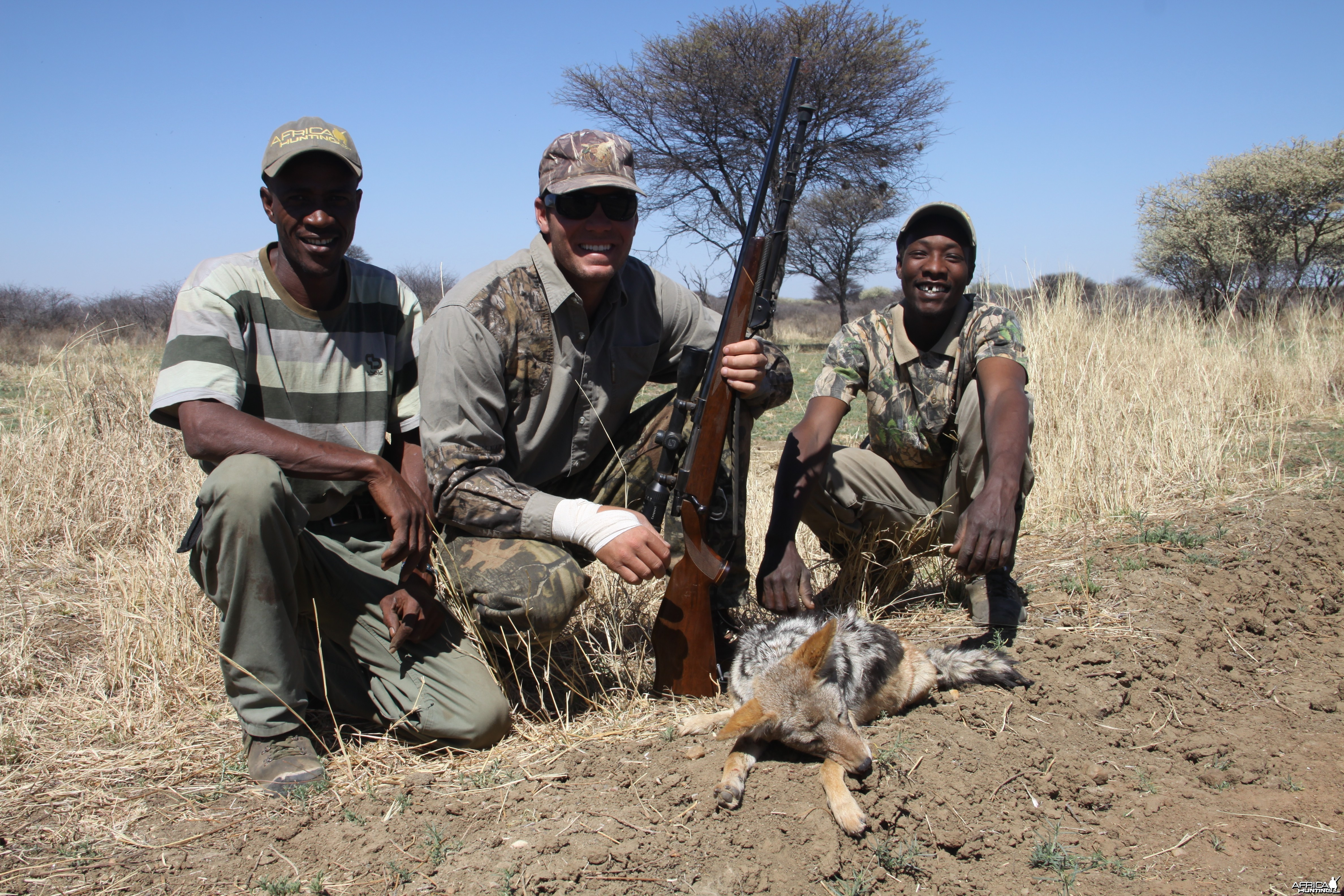 Jackal hunted with Ozondjahe Hunting Safaris in Namibia