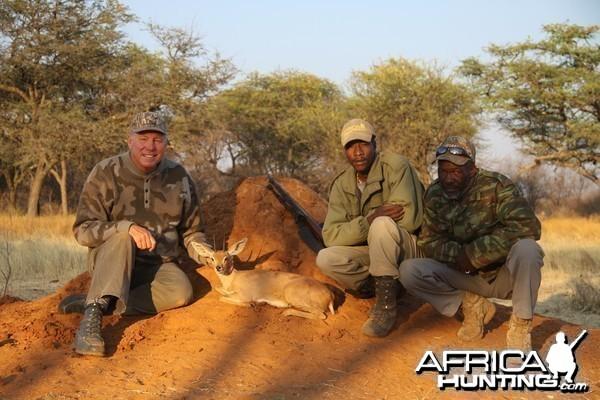 Steenbok hunted with Ozondjahe Hunting Safaris in Namibia